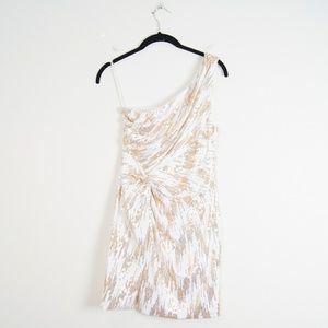 As U Wish | White & Gold Dress